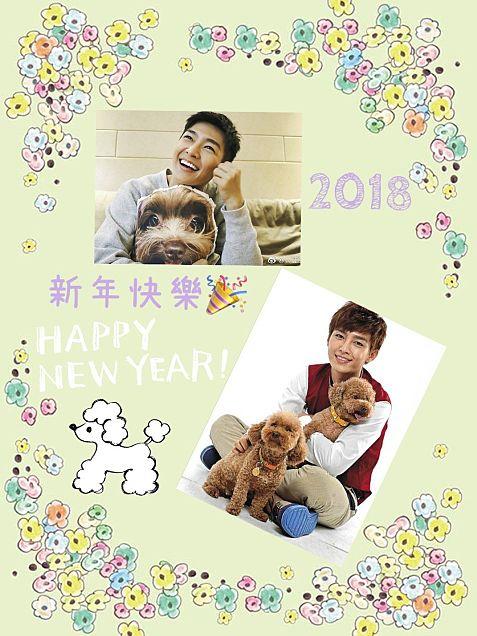 亞綸 2018年 年賀状風画像の画像 プリ画像