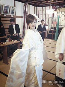 モデル今宿麻美、故郷・宮崎で挙式 白無垢姿を披露の画像(今宿麻美に関連した画像)