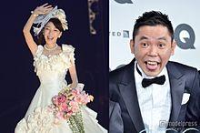 太田光代、結婚24周年で初ウエディングドレス 華やかすぎる舞台に登場の画像(太田光代に関連した画像)