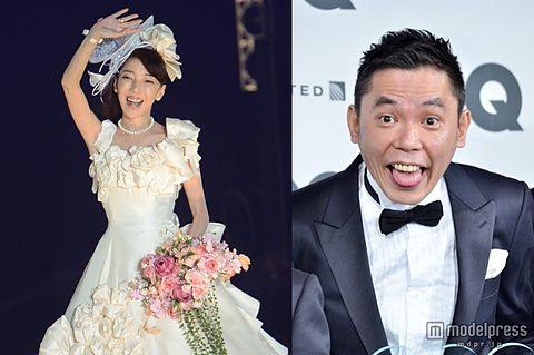 太田光代、結婚24周年で初ウエディングドレス 華やかすぎる舞台に登場の画像 プリ画像