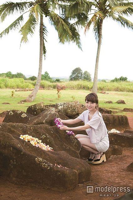 結婚4年目・あいのり桃、ハワイで子宝祈願の画像 プリ画像