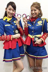 神戸蘭子&杉枝真結、ミニスカ美女ポリス姿「ビシバシ楽しく取り締まりたい」の画像(プリ画像)