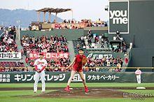 栗山千明、美脚全開の初始球式「ノーバンで投げたかった」の画像(始球式に関連した画像)