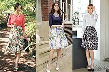 気分は初夏!ボタニカル柄スカートで上品スタイルの画像(ボタニカル柄に関連した画像)