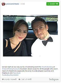 道端ジェシカ&ジェンソン・バトン夫妻の2ショットに「パーフェクトな夫婦」の声の画像(道端ジェシカに関連した画像)