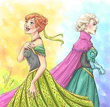 ディズニープリンセス アナ エルサ アナと雪の女王の画像(プリ画像)