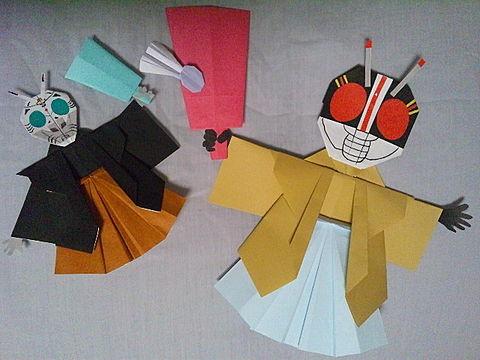 仮面ライダーBLACK&シャドームーン おりがみの画像(プリ画像)