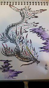 筆ペンでアマツマガツチの画像(プリ画像)