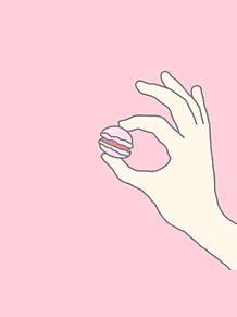 マカロン ピンクの画像(プリ画像)