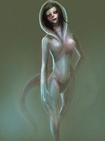 爬虫類系女子の画像(ウーパールーパーに関連した画像)