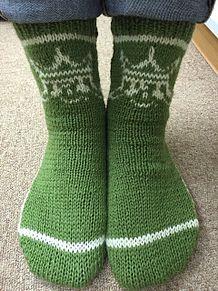 手編み靴下 プリ画像