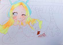 描き途中シエルちゃ💕💝の画像(キュアパルフェに関連した画像)