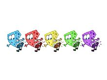スポンジボブ 5色カラーの画像(5色に関連した画像)