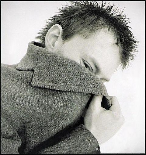 ジャケット写真風なトムヨーク。
