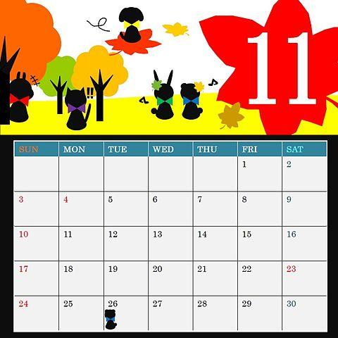 どうぶつ嵐11月カレンダーの画像(プリ画像)