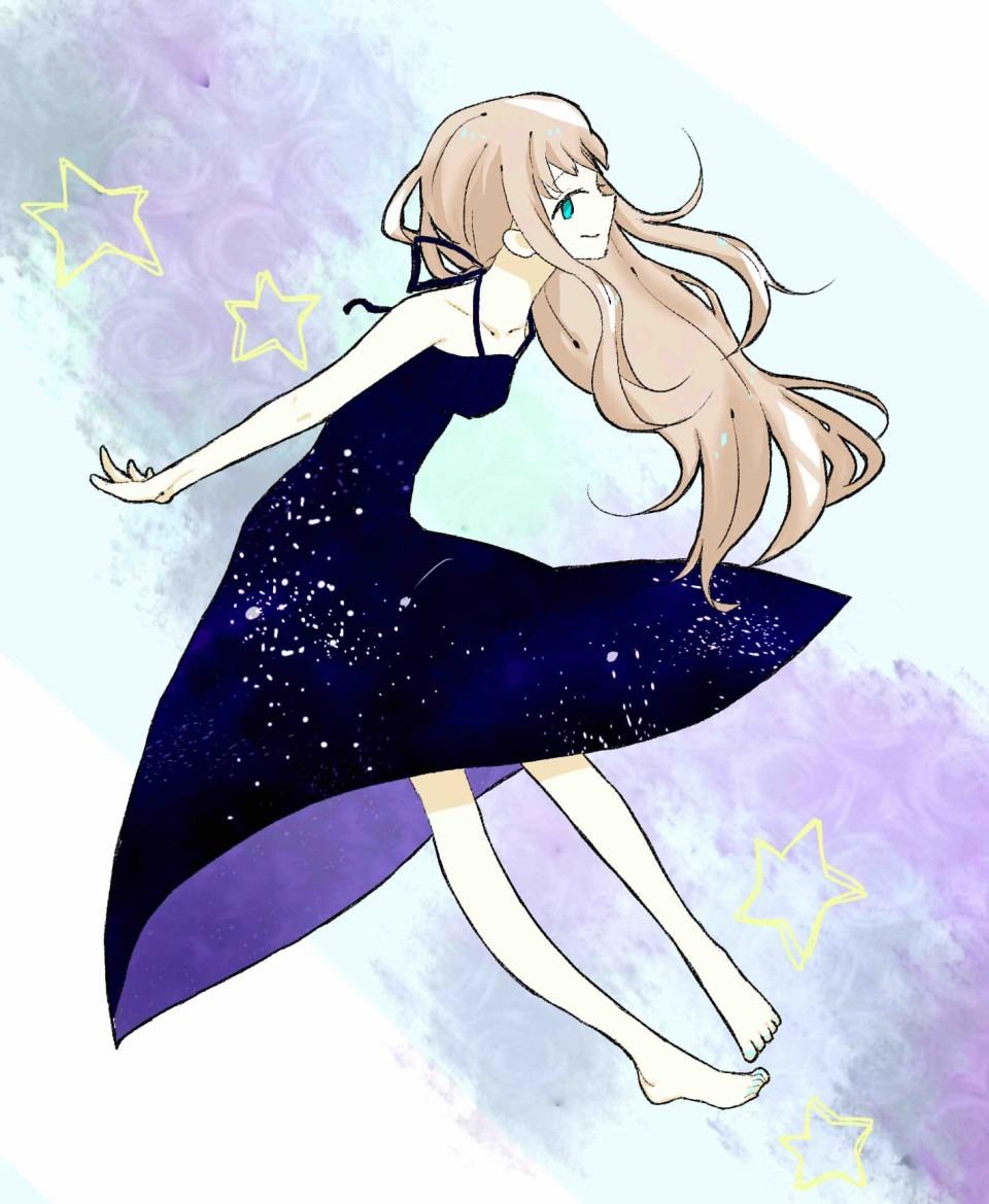 夜空ドレスの画像(プリ画像)