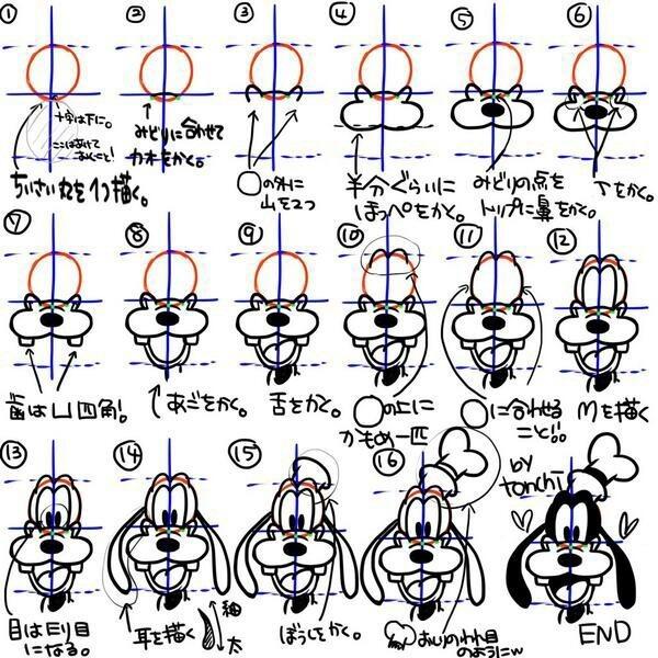 ディズニーキャラクター書き方簡単