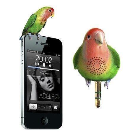 鳥のイヤホンジャックスピーカーの画像 プリ画像