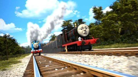 トーマスと競争しているジェームスです。