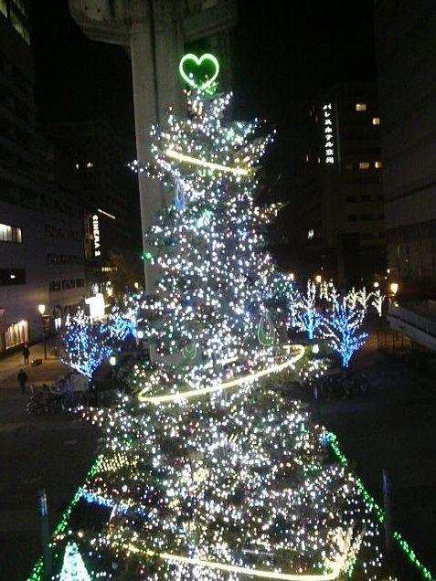 クリスマスイルミネーション綺麗ツリーライトlightの画像(プリ画像)