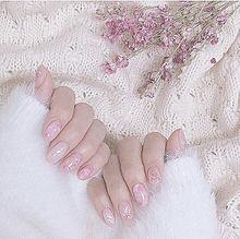 ピンク系ネイルの画像(おかりえに関連した画像)