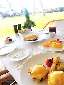 2017/5/7朝食 ハレクラニ(アメリカ・ハワイ)の画像(エッグベネディクトに関連した画像)