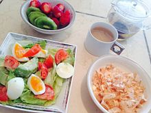 2014/4/14ディナー(サラダ)の画像(イチゴに関連した画像)