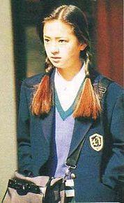 浜崎あゆみ 学生 制服 三つ編みの画像(プリ画像)