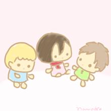 幼馴染三人組 ぬいぐるみ風 プリ画像