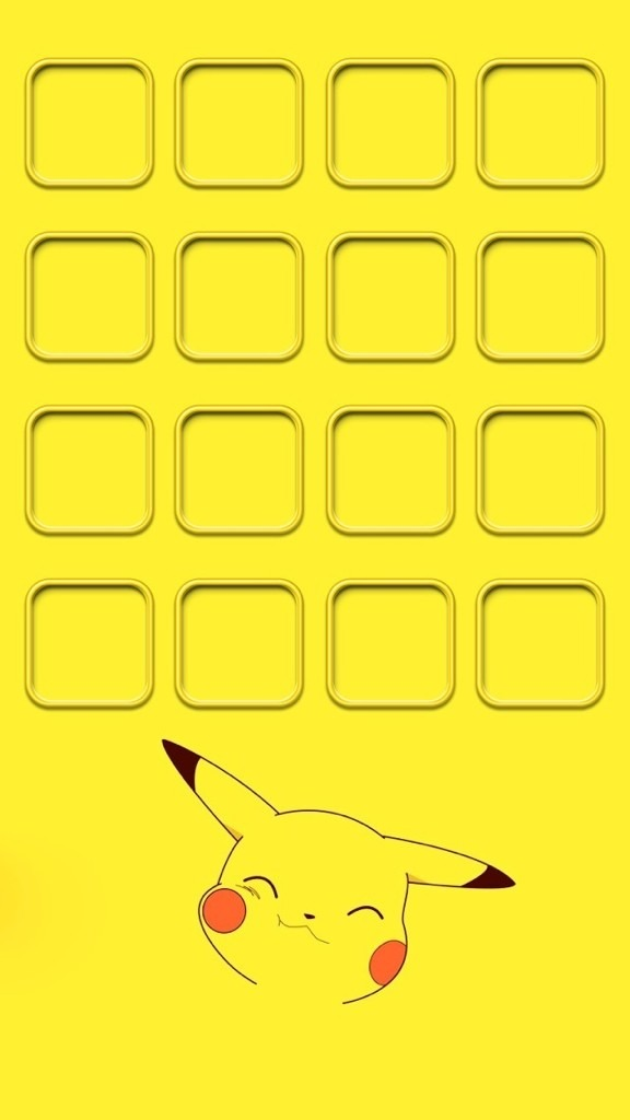 iPhone5 ホーム画面 ピカチュウの画像(プリ画像)