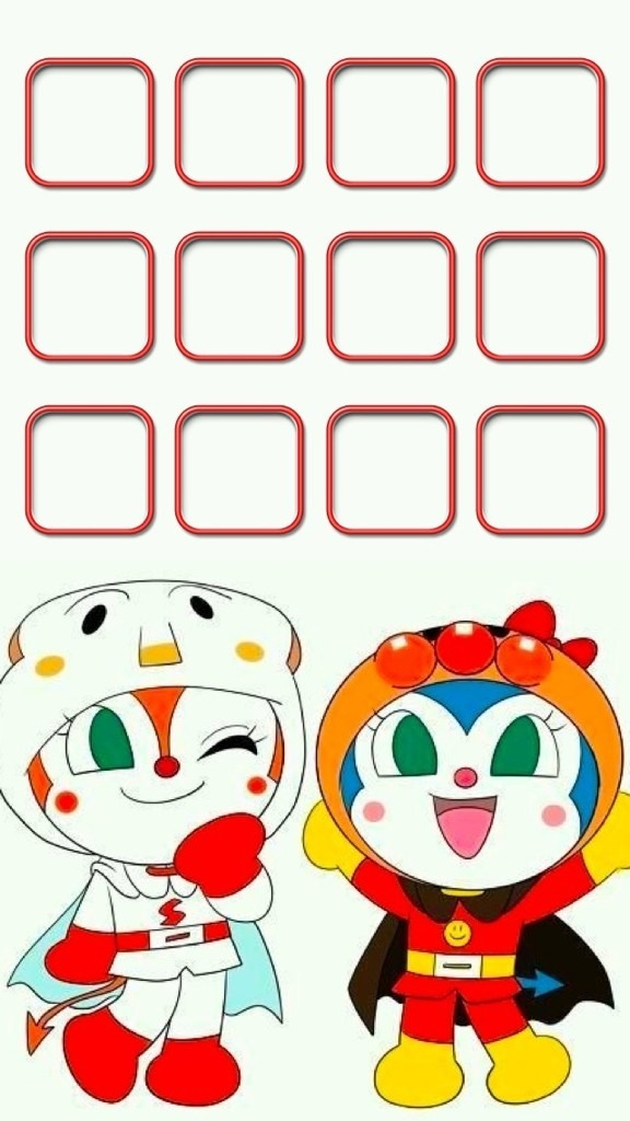 iPhone5 ホーム画面 ドキンちゃん コキンちゃん