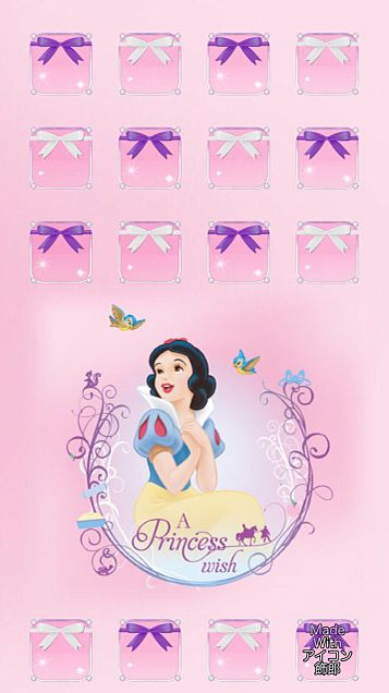 ピンク背景の白雪姫