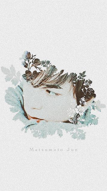 松本潤×ライン背景の画像 プリ画像