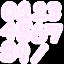 背景透過 素材 数字 スタンプの画像(数字に関連した画像)