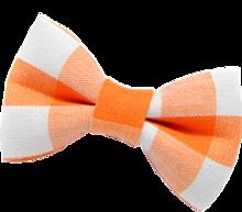 オレンジ ギンガムチェック リボン 透過の画像(プリ画像)