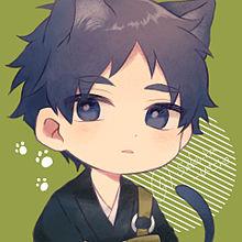 黒猫の和尚さん(創作) プリ画像
