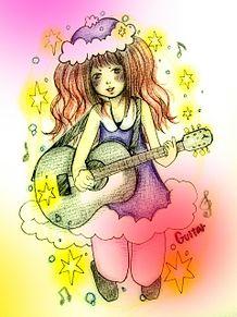 ギター弾く女の子の画像(プリ画像)