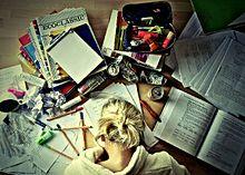 Too much homeworkの画像(プリ画像)