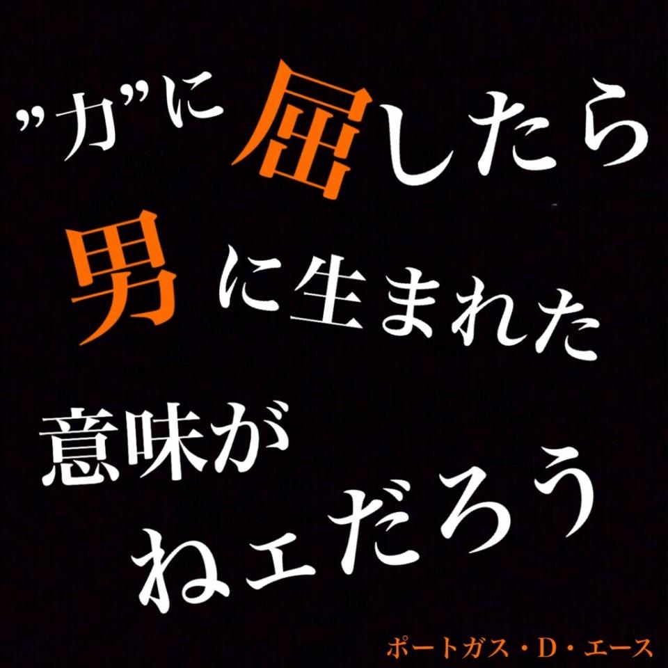 One Piece 名言 エース 32559528 完全無料画像検索のプリ画像 Bygmo