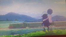 列車を眺める二人の画像(眺めに関連した画像)