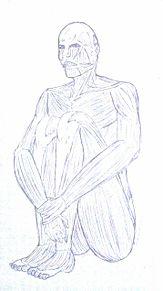 体育座りの巨人の画像(プリ画像)