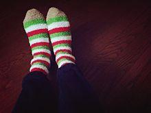 タクヤ♪モコモコ靴下の画像(靴下に関連した画像)