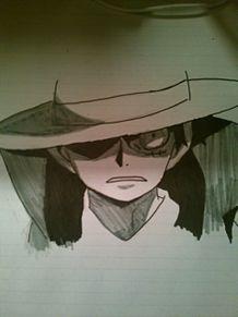 ルフィーを筆ペンで書いたら、こうなったの画像(ルフィーに関連した画像)