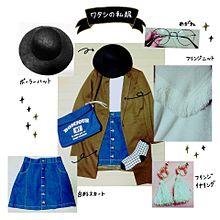 コーデの画像(台形スカートに関連した画像)