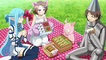 アスナとチユリの料理くらべ?の画像(アクセル・ワールドに関連した画像)