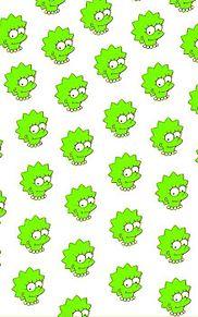 シンプソンズ/黄緑の画像(プリ画像)