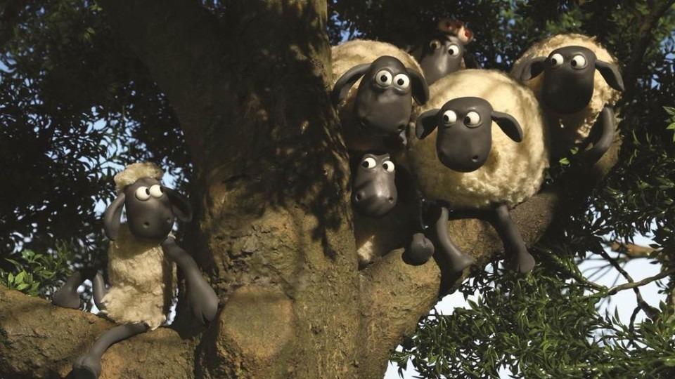 木登りするひつじのショーン