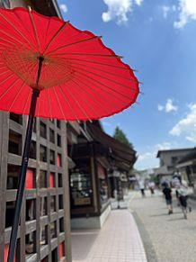 昔の傘(*´ω`*)世界遺産、忍野八海の画像(傘に関連した画像)