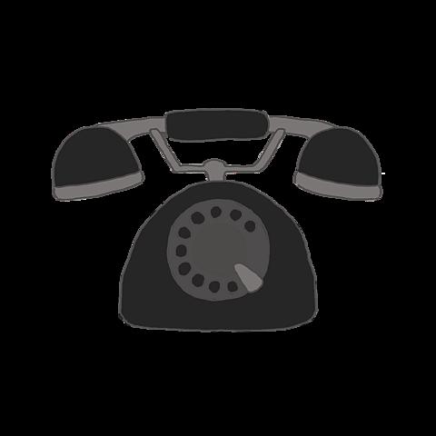 リクエスト作 アイコン 手書き 黒電話の画像(プリ画像)