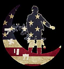 ヘタリア アメリカ 月シルエット 背景透過の画像(プリ画像)